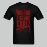 Horror Flix and Chill - Men's Black Tee