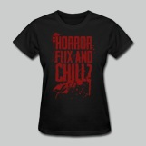 Horror Flix and Chill - Women's Black Tee