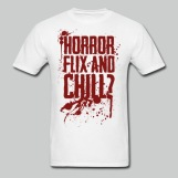 Horror Flix and Chill - Men's White Tee