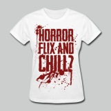Horror Flix and Chill - Women's White Tee