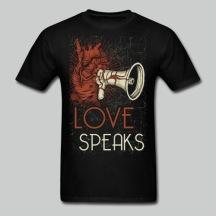 Love Speaks - Men's Black Tee